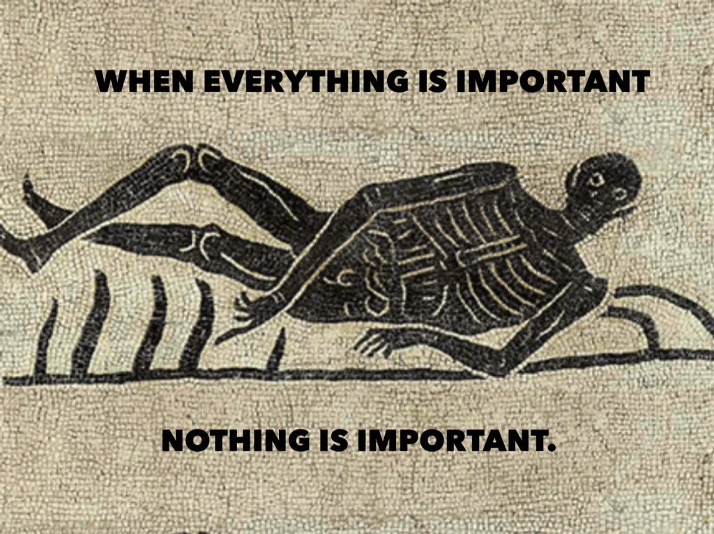 When Everything is Important, nothing is Important