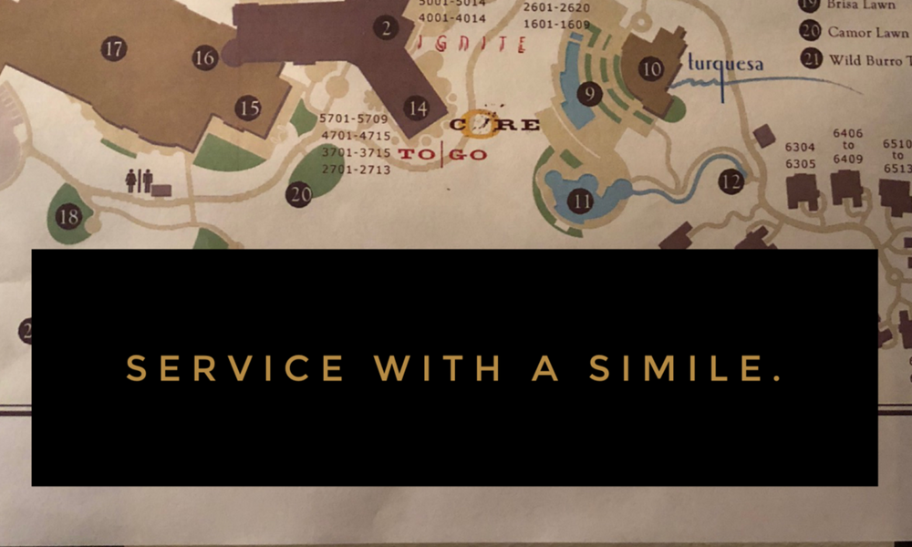 Service with a Simile.