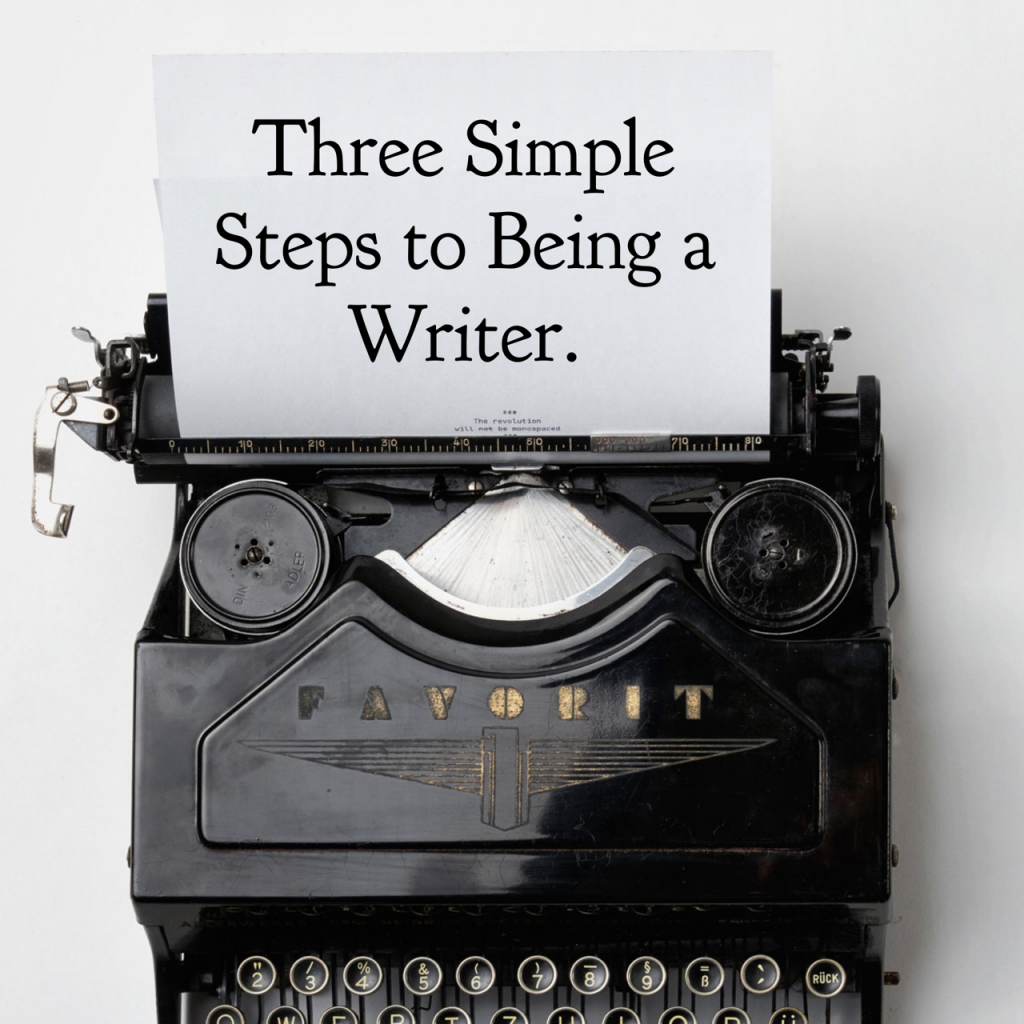 Image of type writer and piece of paper. Concept of 3 writing tips to become a better writer.