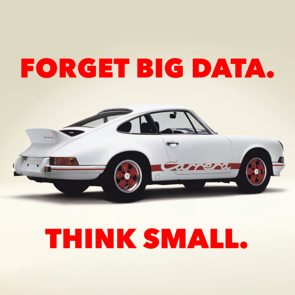 Forget Big Data. Think Small