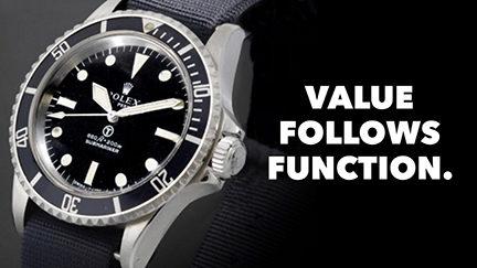 Value Follows Function.